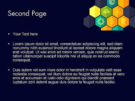 Hexagons with Icons PowerPoint Template, Slide 2, 12199, Business Concepts — PoweredTemplate.com