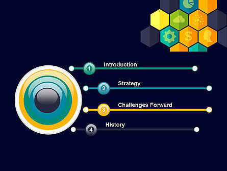 Hexagons with Icons PowerPoint Template, Slide 3, 12199, Business Concepts — PoweredTemplate.com