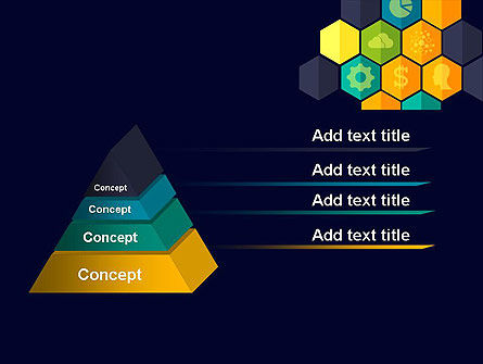 Hexagons with Icons PowerPoint Template, Slide 4, 12199, Business Concepts — PoweredTemplate.com