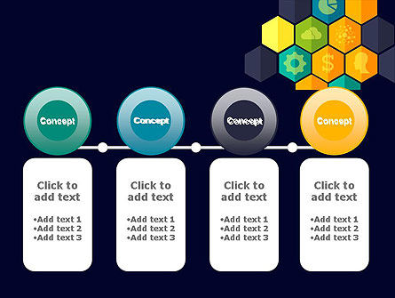 Hexagons with Icons PowerPoint Template Slide 5