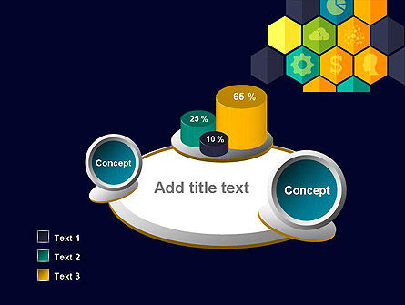 Hexagons with Icons PowerPoint Template Slide 6