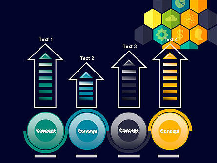Hexagons with Icons PowerPoint Template Slide 7