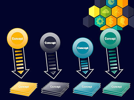 Hexagons with Icons PowerPoint Template Slide 8