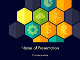 Hexagons with Icons PowerPoint Template#1