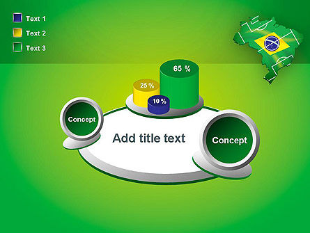 Brazil Flag Map with Football Field PowerPoint Template Slide 16
