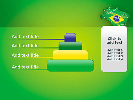 Brazil Flag Map with Football Field PowerPoint Template Slide 8