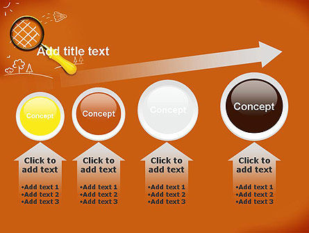Racket with Magnifying Glass PowerPoint Template Slide 13