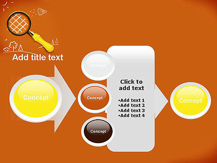 Racket with Magnifying Glass PowerPoint Template Slide 17