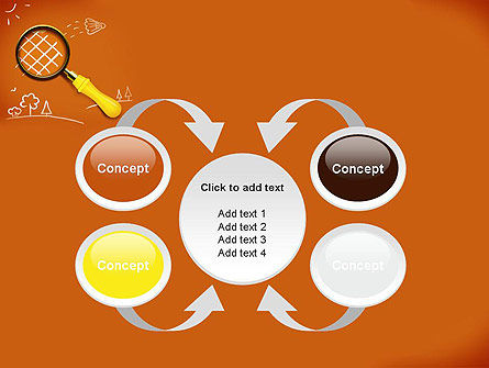 Racket with Magnifying Glass PowerPoint Template Slide 6