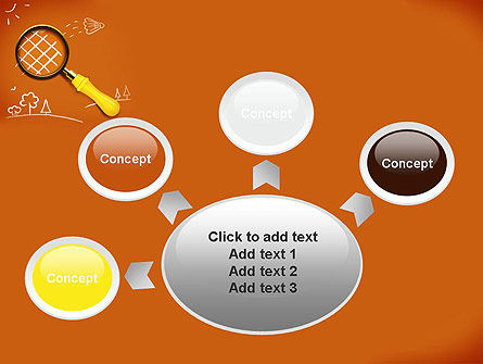 Racket with Magnifying Glass PowerPoint Template Slide 7