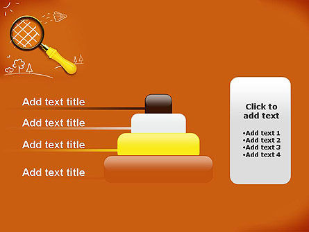 Racket with Magnifying Glass PowerPoint Template Slide 8