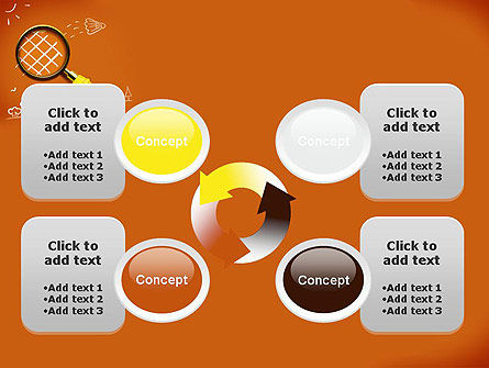 Racket with Magnifying Glass PowerPoint Template Slide 9