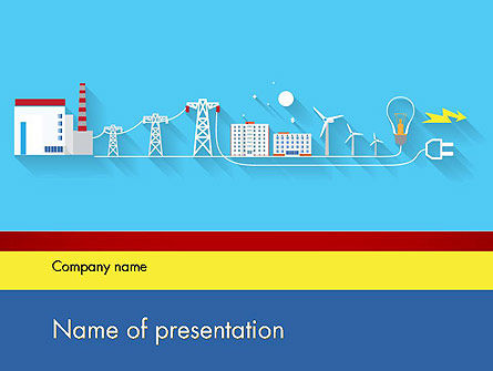 Mains Electricity PowerPoint Template, 12202, Careers/Industry — PoweredTemplate.com