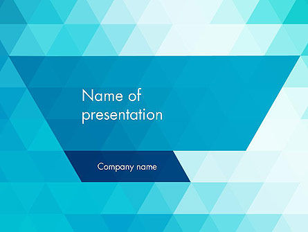 Blue Abstract Geometric Triangles PowerPoint Template
