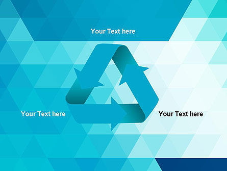 Blue Abstract Geometric Triangles PowerPoint Template Slide 10