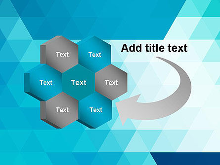 Blue Abstract Geometric Triangles PowerPoint Template Slide 11