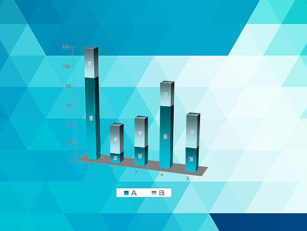 Blue Abstract Geometric Triangles PowerPoint Template Slide 17