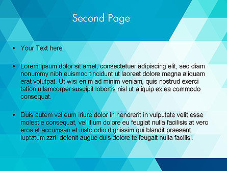 Blue Abstract Geometric Triangles PowerPoint Template Slide 2