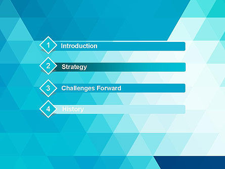 Blue Abstract Geometric Triangles PowerPoint Template Slide 3