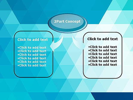 Blue Abstract Geometric Triangles PowerPoint Template Slide 4