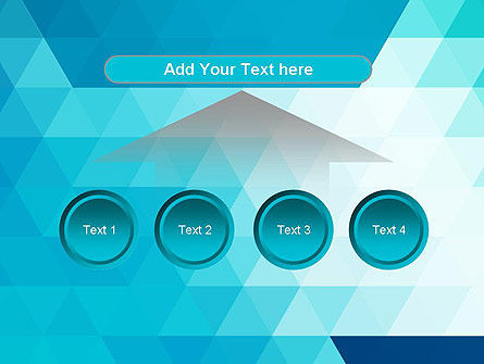 Blue Abstract Geometric Triangles PowerPoint Template Slide 8