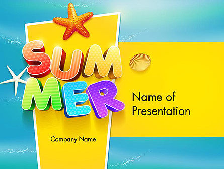 Summer Party PowerPoint Template, 12205, Holiday/Special Occasion — PoweredTemplate.com