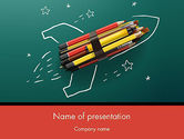 Education & Training: Rocket Ship Launch Made with Pencils PowerPoint Template #12207