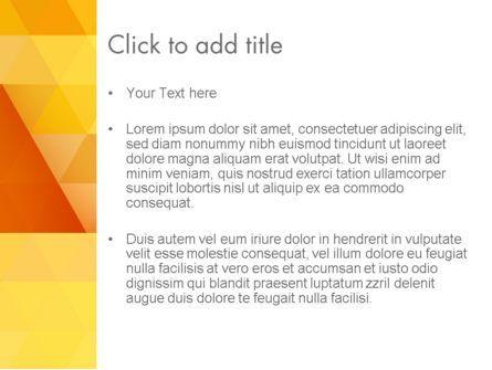 Orange Abstract Geometric Triangles PowerPoint Template, Slide 3, 12208, Abstract/Textures — PoweredTemplate.com