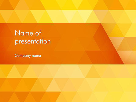 Orange Abstract Geometric Triangles PowerPoint Template