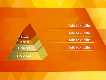 Orange Abstract Geometric Triangles PowerPoint Template Slide 12