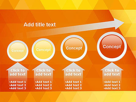 Orange Abstract Geometric Triangles PowerPoint Template Slide 13