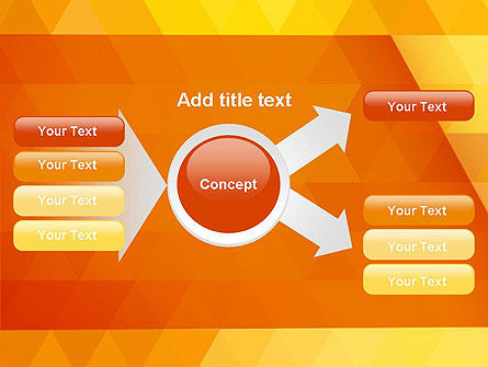Orange Abstract Geometric Triangles PowerPoint Template Slide 14