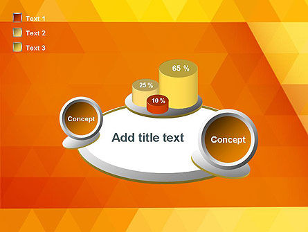 Orange Abstract Geometric Triangles PowerPoint Template Slide 16