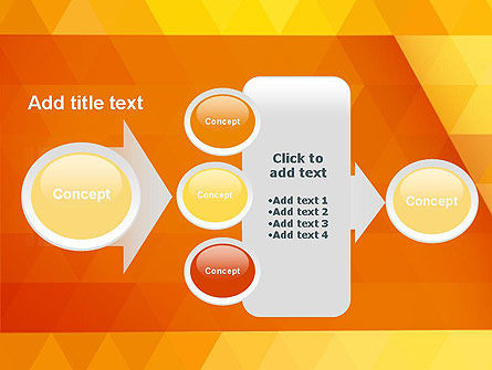 Orange Abstract Geometric Triangles PowerPoint Template Slide 17
