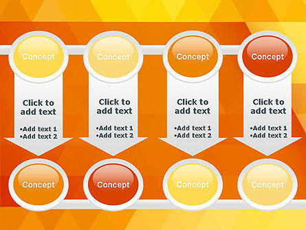 Orange Abstract Geometric Triangles PowerPoint Template Slide 18