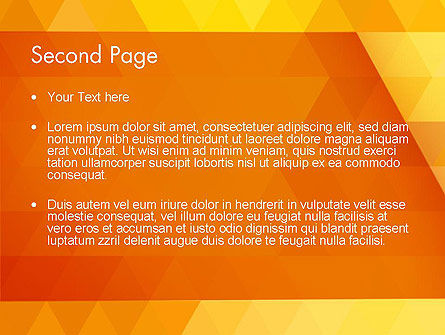 Orange Abstract Geometric Triangles PowerPoint Template, Slide 2, 12208, Abstract/Textures — PoweredTemplate.com