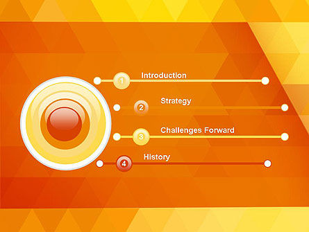 Orange Abstract Geometric Triangles PowerPoint Template Slide 3