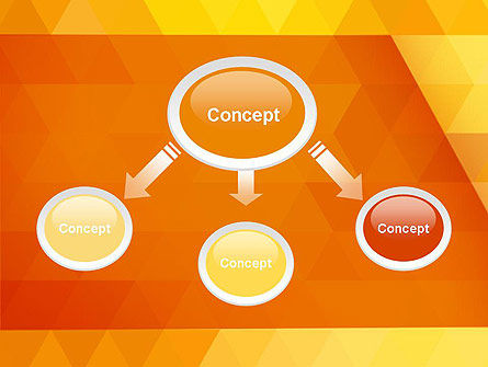 Orange Abstract Geometric Triangles PowerPoint Template Slide 4