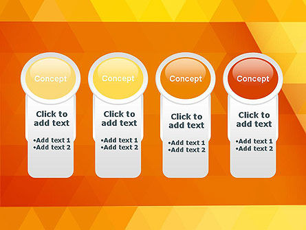 Orange Abstract Geometric Triangles PowerPoint Template Slide 5
