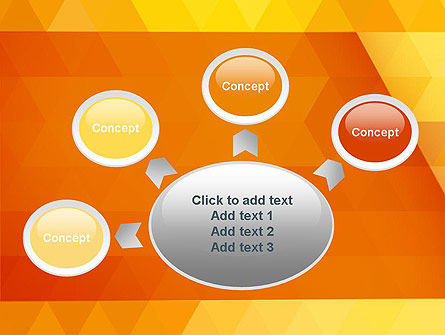 Orange Abstract Geometric Triangles PowerPoint Template Slide 7