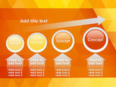 Orange Abstract Geometric Triangles PowerPoint Template#13