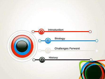 Abstract Colorful Circles PowerPoint Template Slide 3