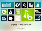 Financial/Accounting: Finance Related Icons PowerPoint Template #12210