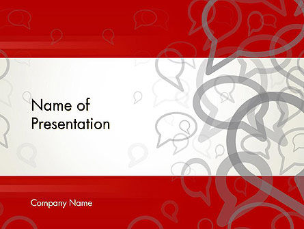 Speaking Bubbles PowerPoint Template