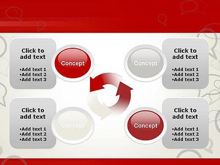 Speaking Bubbles PowerPoint Template Slide 9