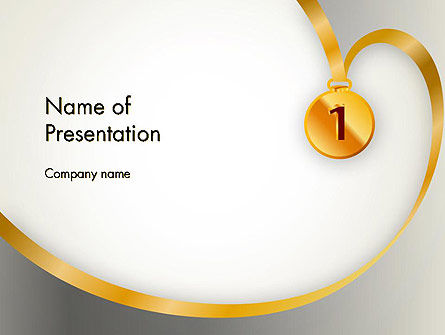Gold Medal PowerPoint Template, 12214, Business Concepts — PoweredTemplate.com