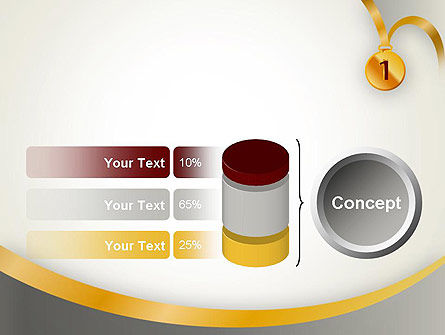 Gold Medal PowerPoint Template Slide 11