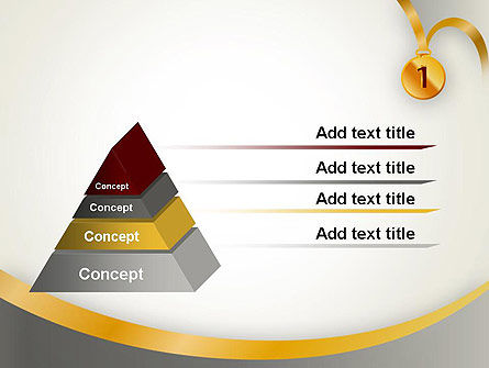Gold Medal PowerPoint Template Slide 12