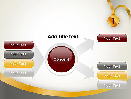 Gold Medal PowerPoint Template Slide 14