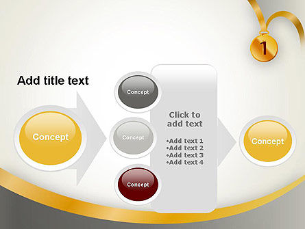Gold Medal PowerPoint Template Slide 17